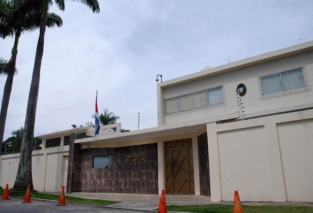 Im Visier der Putschisten: Die Botschaft von Kuba in der Hauptstadt von Venezuela, Caracas