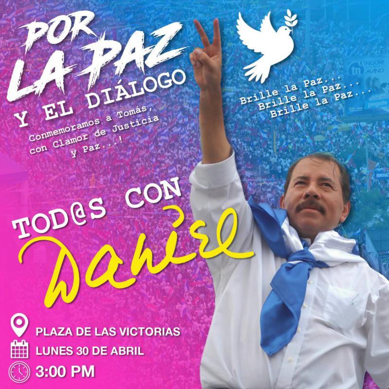 Neben der katholischen Kirche hatten zu Beginn der Woche auch Anhänger von Präsident Ortega zum Friedensdialog aufgerufen