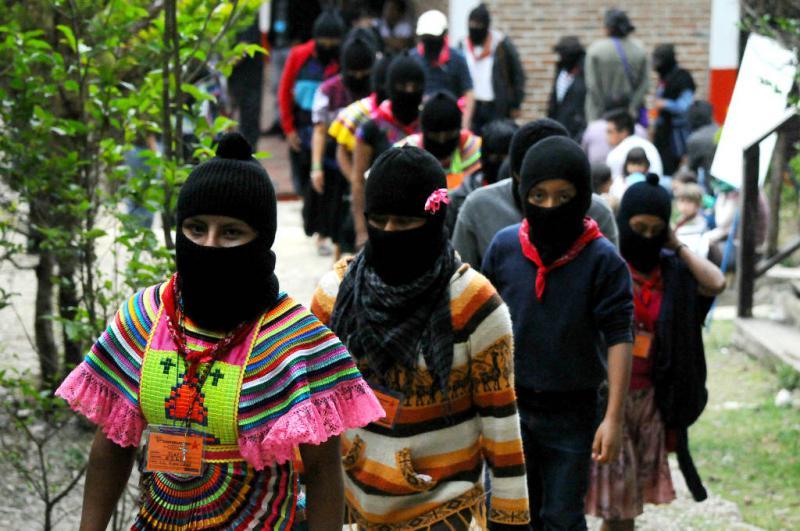 Auch viele junge Zapatistinnen nahmen an dem Treffen teil