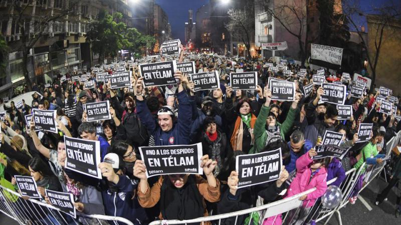 Der Streik gegen die Entlassungen bei Télam in Argentinien findet breite Unterstützung