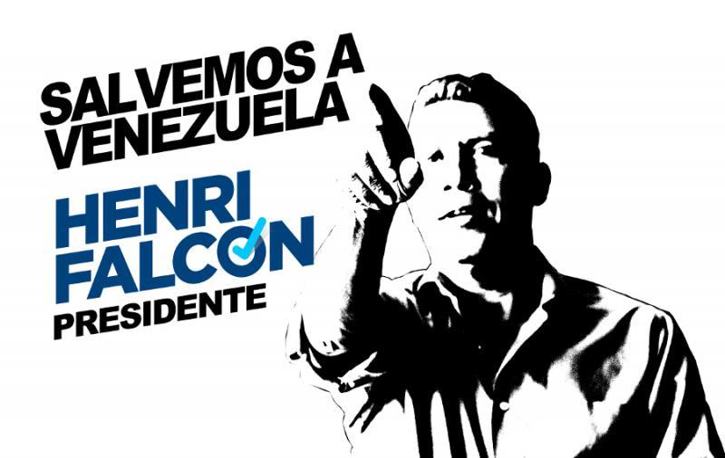 """""""Lasst uns Venezuela retten"""": Vorlage für ein Stencil der Wahlkampagne von Henri Falcón, einem der oppositionellen Kandidaten bei der Präsidentschaftswahl in Venezuela"""