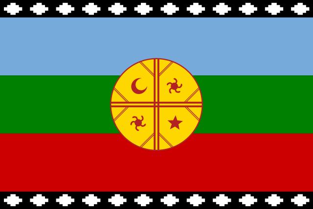 Die Fahne der Mapuche
