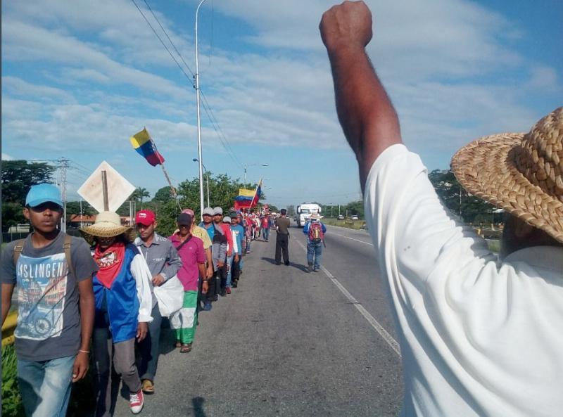 Der Bauernmarsch startete am 11. Juli in Guanare im Bundesstaat Portuguesa