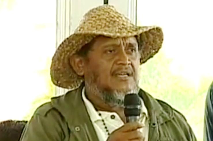Jesús Osorio sprach über die Inhalte des Dokuments, das die Bauern ausgearbeitet haben und übergab es an Maduro
