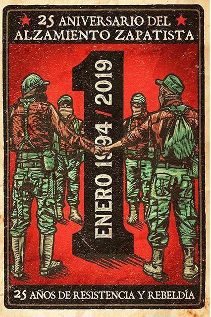 Aus Mexiko: Poster zum 25. Jahrestag des Aufstandes