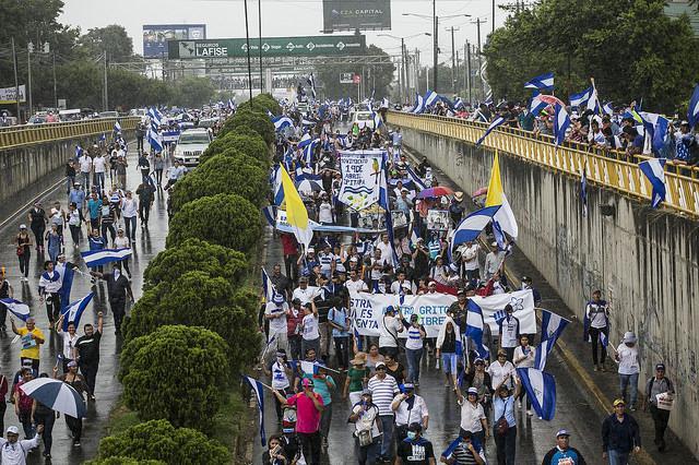 Demonstration der Opposition in Nicaragua Mitte Juli