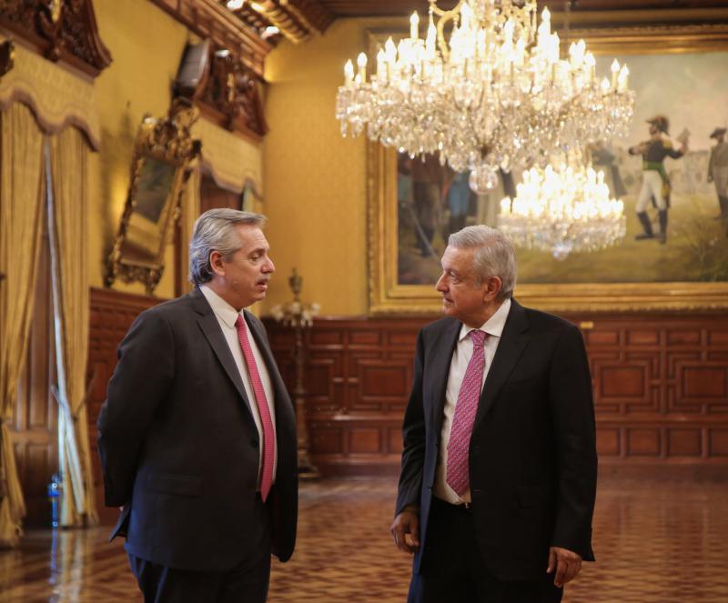 Der gewählte Präsident von Argentinien, Alberto Fernández (links), und der Präsident von Mexiko, Andres Manuel López Obrador, wollen gemeinsam die Linke in Lateinamerika wieder voranbringen
