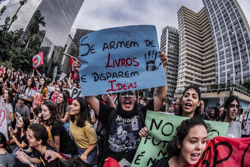 Die Bildungsproteste gingen am vergangenen Donnerstag in die zweite Runde