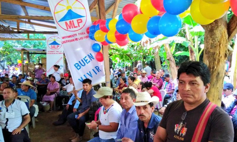 """Bei der ersten Nationalen Versammlung der """"Bewegung für die Befreiung der Völker"""" am 29. Dezember 2018 in Santo Domingo Suchitipueqe, Guatemala"""