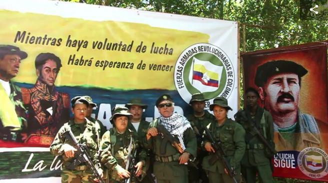 Farc-EP-Kommandant Jésus Santrich meldete sich am Sonntag in einem Video zu Wort (Screenshot)