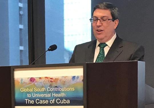 Kubas Außenminister Rodríguez beim Arbeitstreffen zu globaler Gesundheit in New York