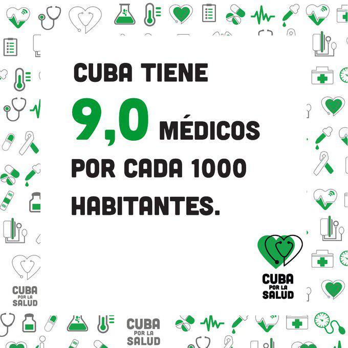 In Kuba gibt es pro 1.000 Einwohner 9 Ärzte, in Deutschland sind es rund 4 in den USA rund 2
