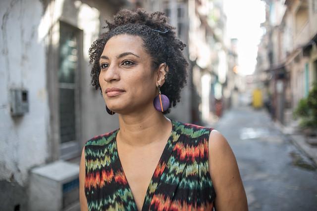 Die 2018 ermordete linke Politikerin und Aktivistin Marielle Franco im August 2016.