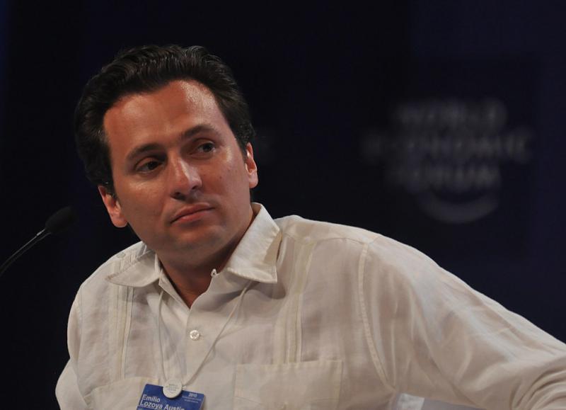 Emilio Lozoya beim Weltwirtschaftsforum zu Lateinamerika in Cartagena, Kolumbien, im April 2010