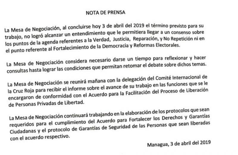 Pressemitteilung der Verhandlungsteilnehmer vom 3. April