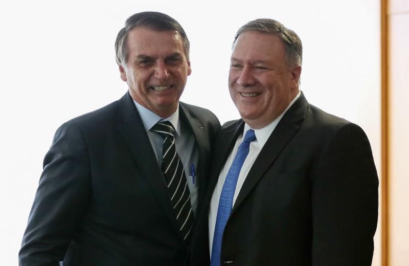 Einig gegen Venezuela: US-Außenminister Pompeo und Brasiliens neuer Präsident Bolsonaro