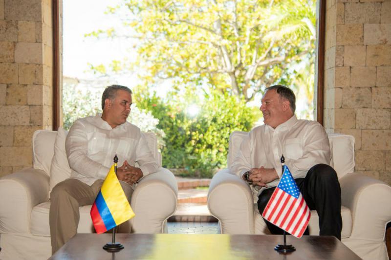 US-Außenminister Mike Pompeo und Kolumbiens Präsident Iván Duque trafen sich in Cartagena