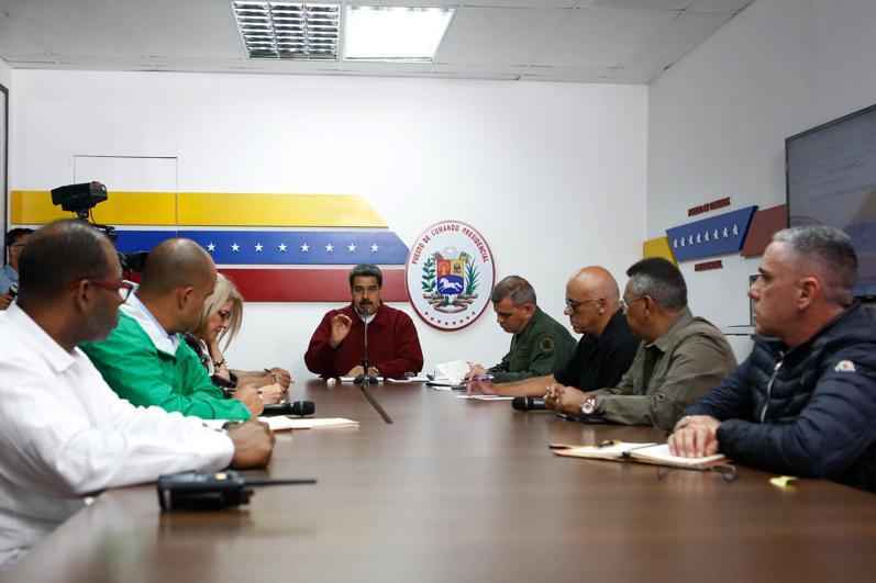 Venezuelas Präsident Maduro bei seiner Ansprache am Dienstag