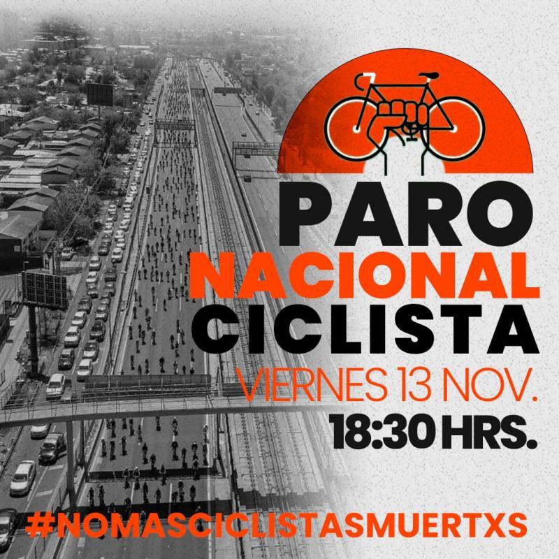 Plakat zum nationalen Streik der Fahrradfahrer:innen