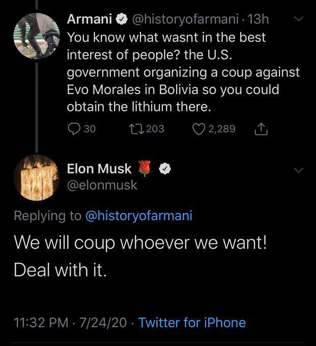Der Tweet von Elon Musk