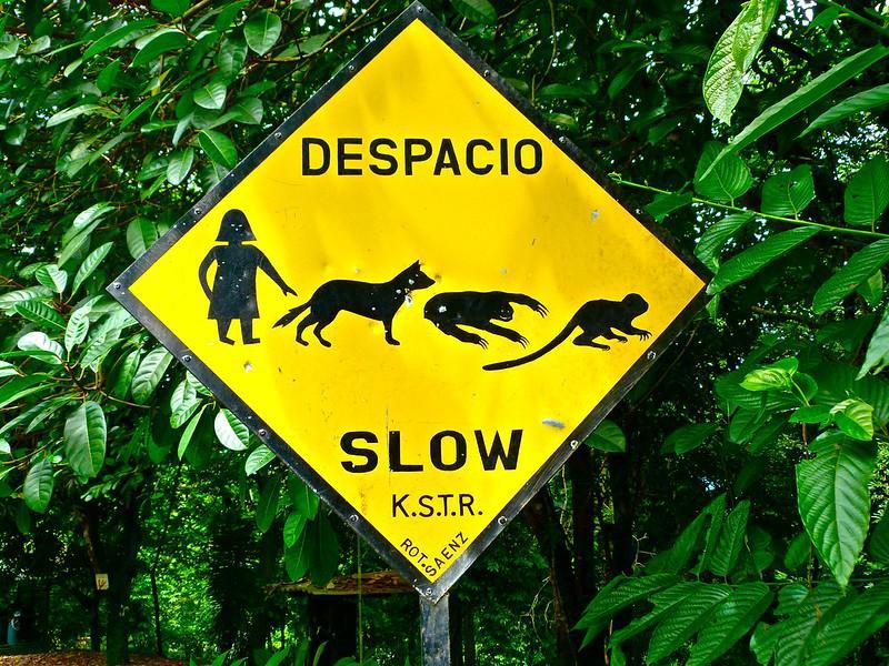 Lateinamerika hat im Schnitt einen noch größeren Verlust an Biodiversität als der Rest der Welt zu verzeichnen (hier ein Warnschild aus Costa Rica)