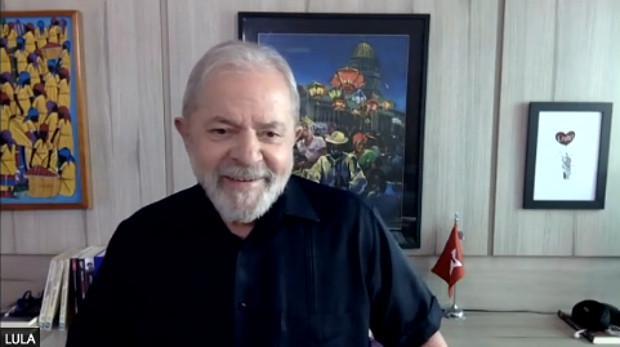 Zeigt sich zuversichtlich hinsichtlich der weiteren Verfahren: Lula in einem Onlineinterview mit Rádio Itatiaia am 2. September (Screenshot)