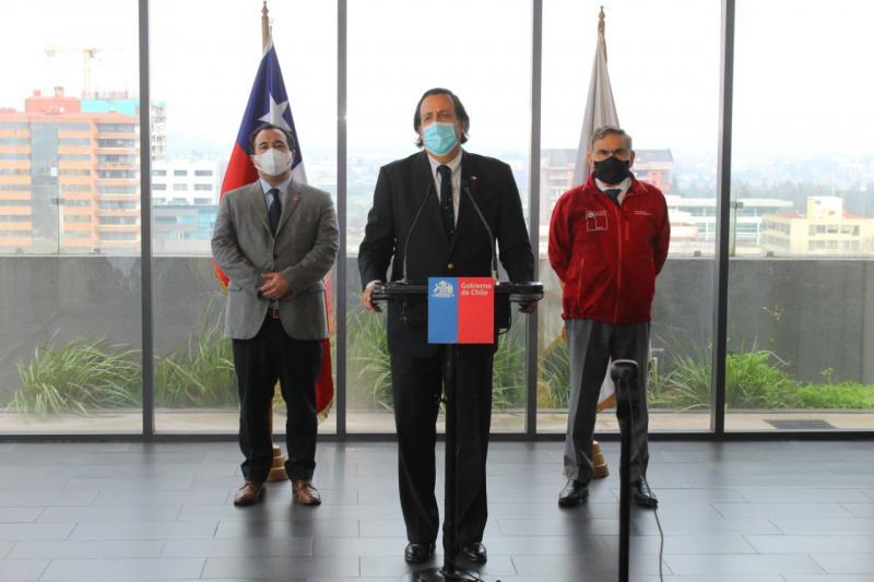 Víctor Pérez Varela bei einem seiner ersten öffentlichen Auftritte nach seiner umstrittenen Ernennung zum Innenminister Chiles
