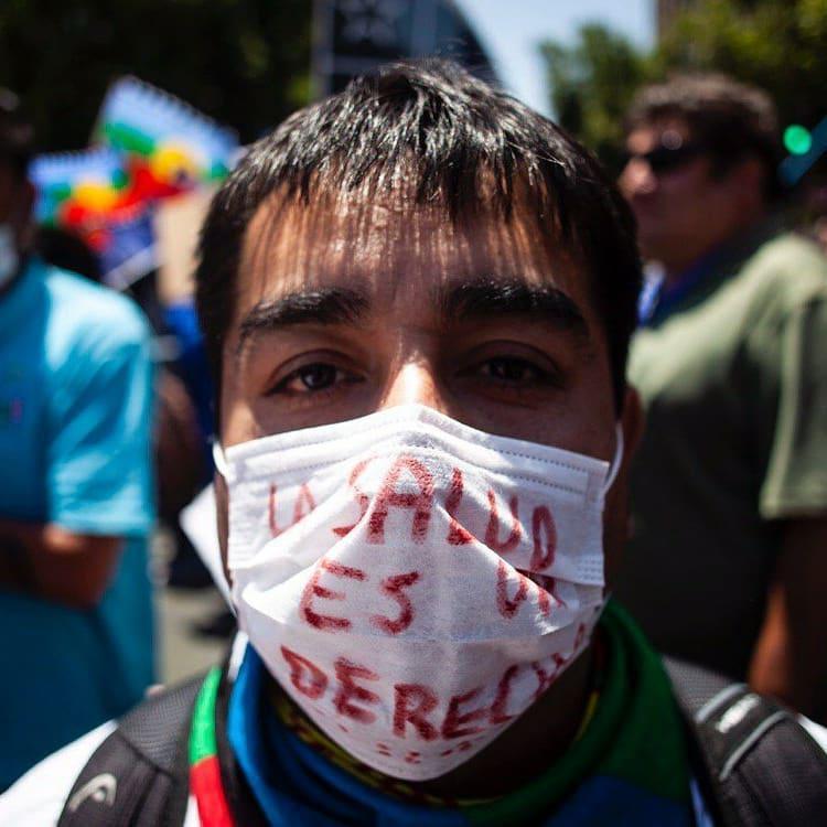 """Bei den Protesten seit Oktober stets auf der Agenda: """"Gesundheit ist ein Recht"""""""