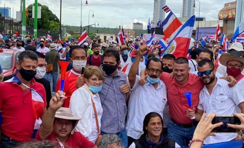 Die Proteste in Costa Rica gegen die Verhandlungen mit dem IWF reißen nicht ab