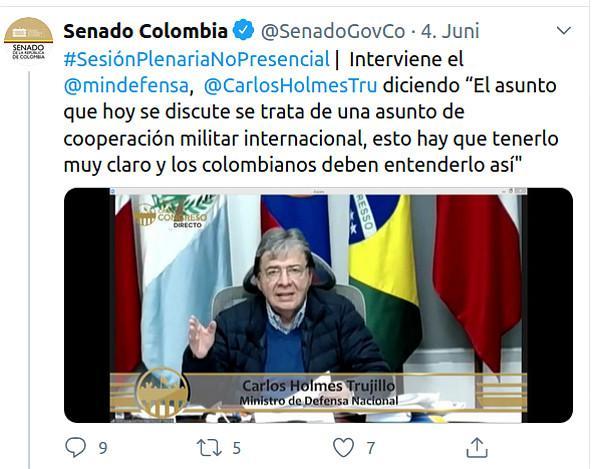 Wies jede Kritik am Einsatz der US-Spezialeinheit zurück: Trujillo bei der virtuellen Senatssitzung am Mittwoch