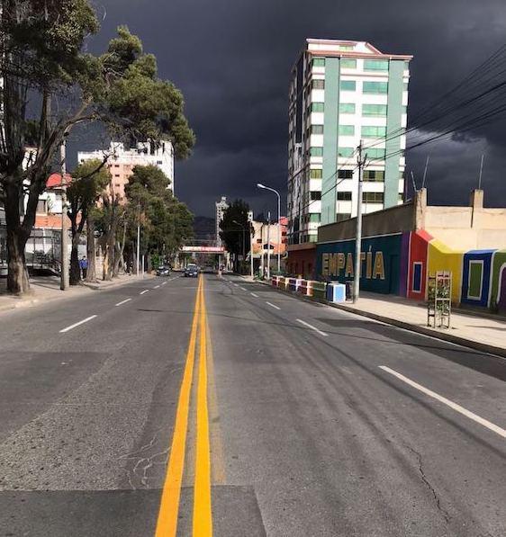 Regen zog während des Wahltags in La Paz auf