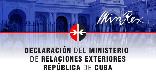 """Kubas Außenministerium kritisiert den """"manipulativen und opportunistischen"""" Umgang der Vereinigten Staaten mit dem Thema des Terrorismus"""