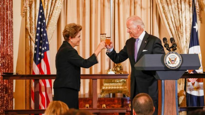 """""""Vorgarten statt Hinterhof"""": Obamas Vize-Präsident Biden zu Besuch bei Brasiiens Präsidentin Dilma Rousseff im Jahr 2015"""