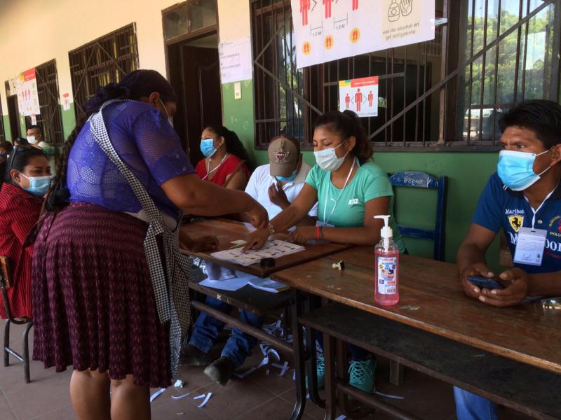 Im Viertel El Fuerte in Santa Cruz sind wiederum viele Wähler von Carlos Mesa zuhause