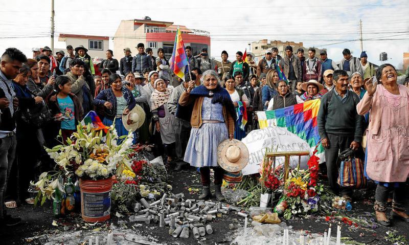 Eine Mission der CIDH wird ab nächster Woche die Hintergründe der Massaker von Senkata und Sacaba untersuchen. Hier ein Bild von Angehörigen beim Jahrestag von Sacaba in dieser Woche