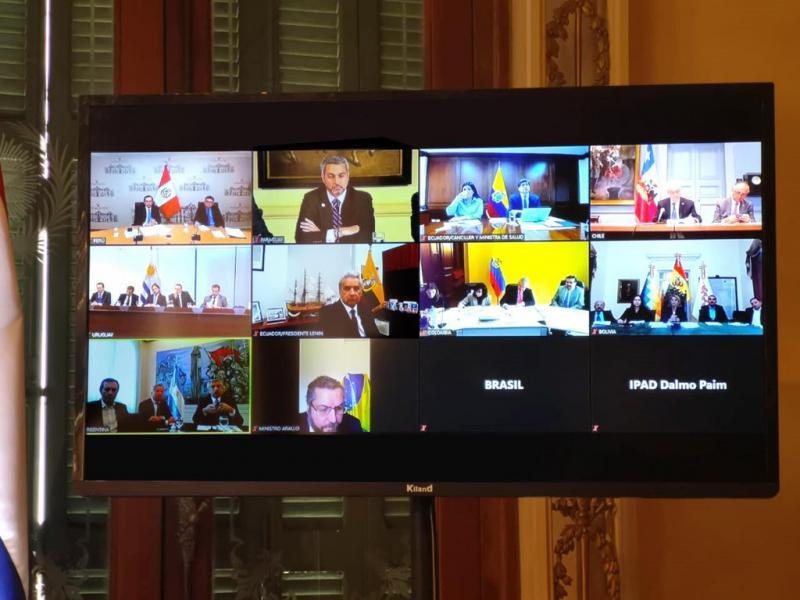Videokonferenz der Prosur-Vertreter zur Corona/Covid-Krise