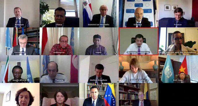 Video-Sitzung des UN-Sicherheitsrates zum Überfall auf Venezuela (20. 5. 2020)