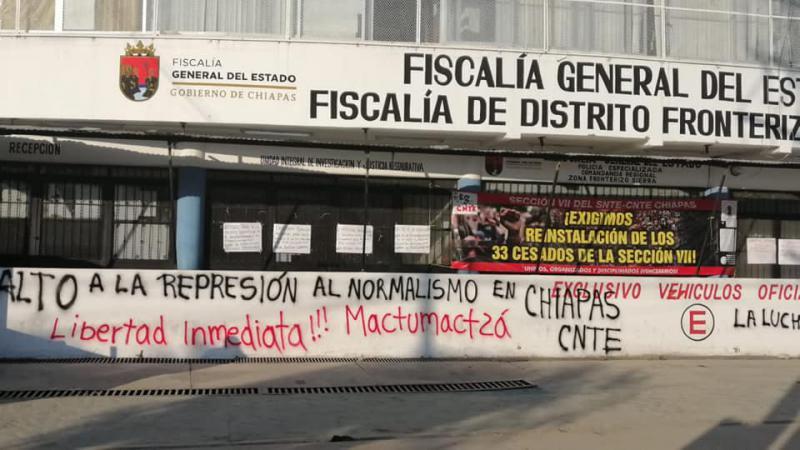 Familienangehörige fordern die Freilassung aller Studierenden von Mactumactzá