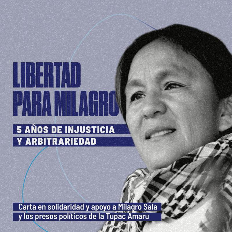 Die Initiative für die Freilassung der indigenen Aktivistin Milagro Sala gewinnt zunehmend an Stärke