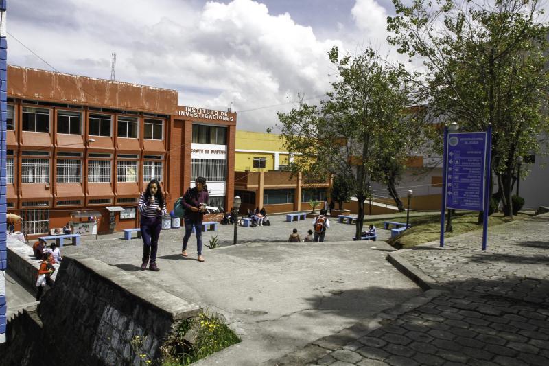 Die medizinische Fakultät der Universidad Central del Ecuador (UCE) in Quito, die älteste und größte Universität Ecuadors