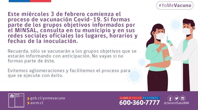 Das Gesundheitsministerium in Chile rief für vergangenen Mittwoch zum Impfen auf