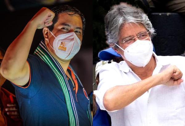 Andrés Arauz (links) und Guillermo Lasso sind laut jüngster Bekanntmachung des CNE die Kandidaten für die Stichwahl. Sicher ist das noch nicht...
