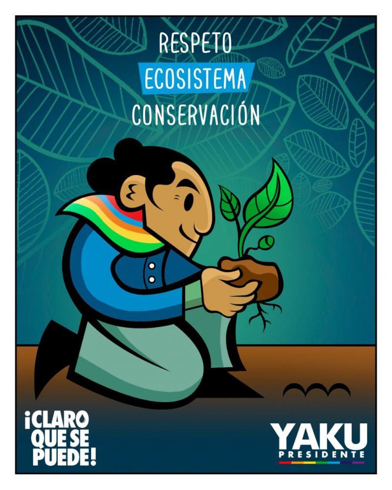 Wahlkampfplakat von Yaku Pérez