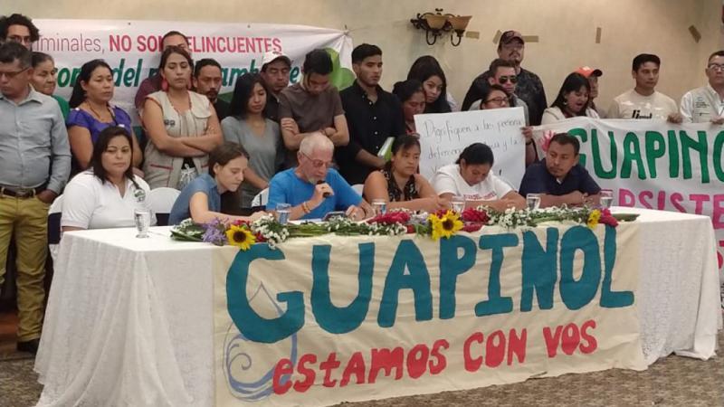 Ein Ziel der Umwelt- und Menschenrechtsaktivist:innen ist die Freilassung der acht Gefangenen aus der Gemeinde Guapinol