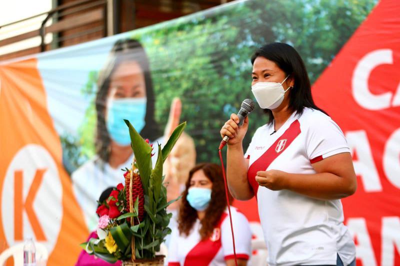 Keiko Fujimori auf einer Wahlkampfveranstaltung