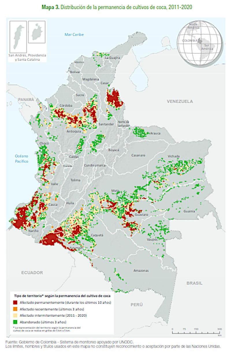 Der am 9. Juni veröffentlichte Bericht der UNODC-Daten zur Überwachung des illegalen Anbaus in Kolumbien