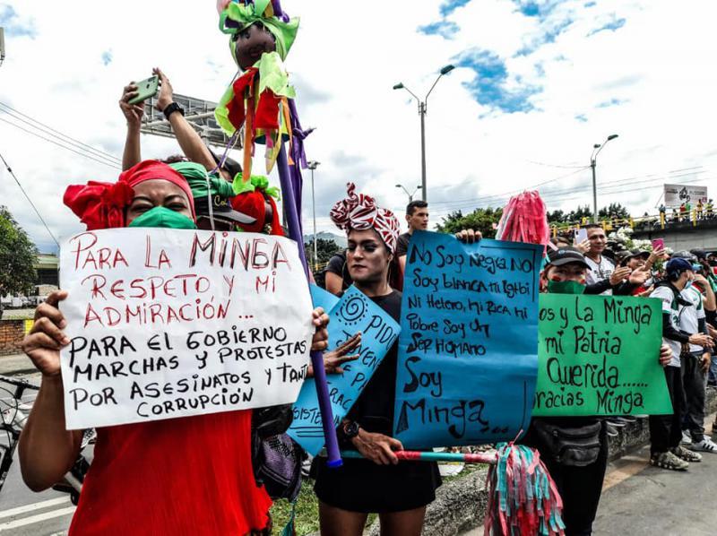 Die Minga wurde von Protestierenden begeistert empfangen. Sie stieß aber auch auf Ablehnung und Hass