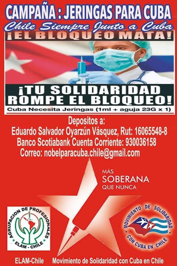 Plakat der Kampagne in Chile