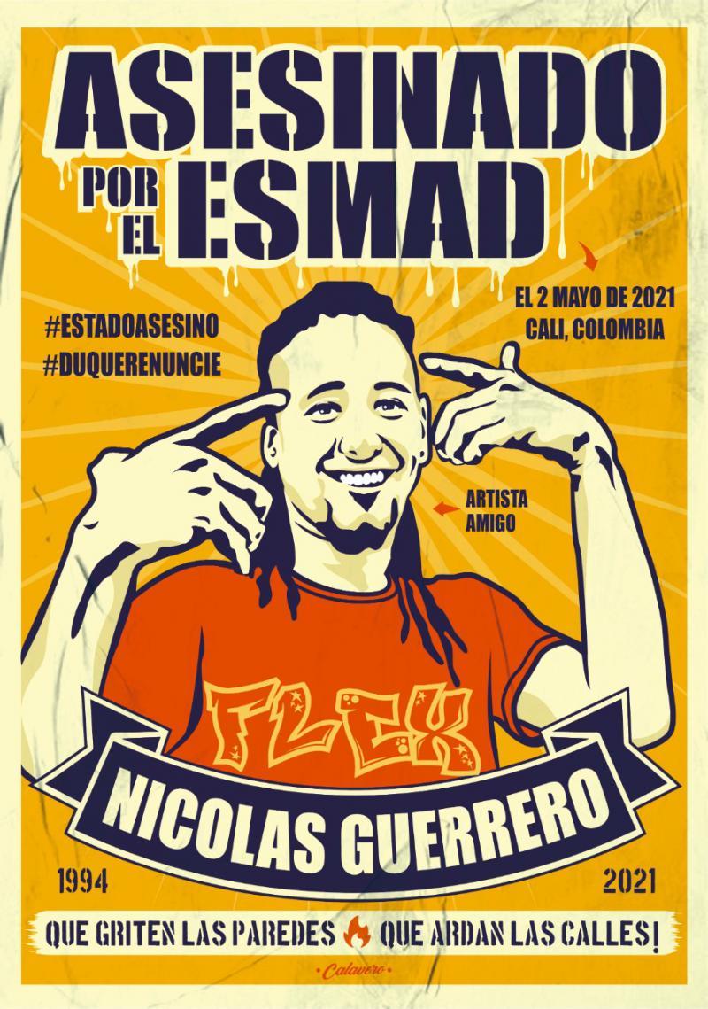 """""""Von der ESMAD ermordet"""" wurde der Graffiti-Künstler am 2. Mai"""