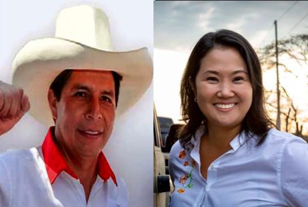 Pedro Castillo und Keiko Fujimori